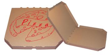 Obrázek Pizza krabice, 30 cm, hnědo hnědá s potiskem